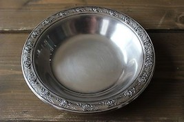 Vintage Reed and Barton Classic Rose Silverplate Nut Bowl 6.5 inch diameter - $14.85