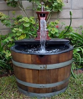 how to make a wine barrel water fountain