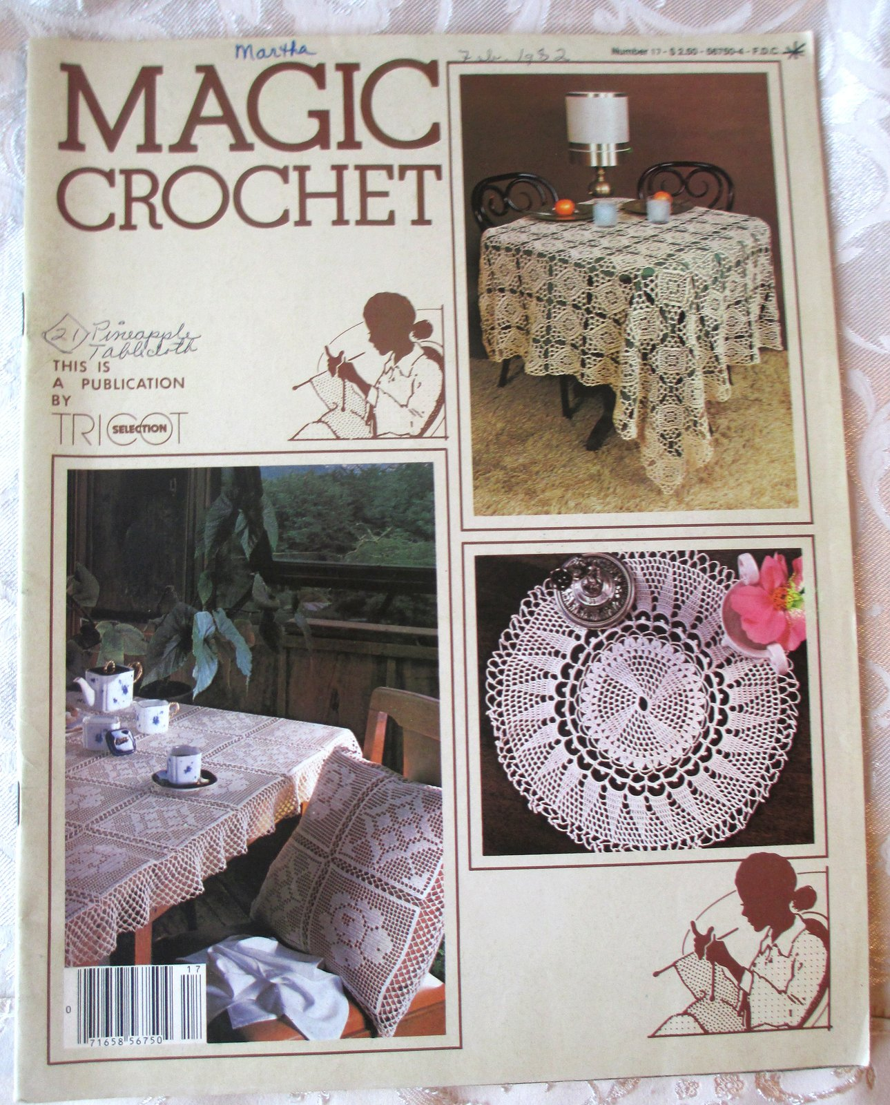 Primary image for Magic Crochet Tricot Selection #17 -- Back Issue, Vintage Crochet Magazine, 1982