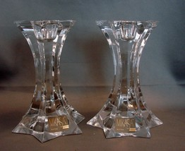 Mikasa Austria Fire Star Candle Holders ~ Crystal ~ New With Tags - $7.99