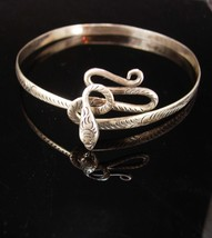 Antique sterling Snake arm band bracelet headband Coiled serpent Large S... - $435.00