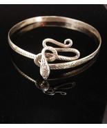 Antique sterling Snake arm band bracelet headband Coiled serpent Large S... - $435.00