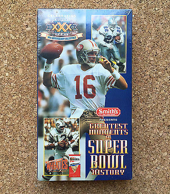 Primary image for Greatest Moments in Super Bowl History VHS Tape • New & Sealed • 1995 NFL Films