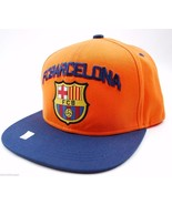 FC Barcelona International Soccer Football Club Flat Bill Snapback Cap Hat - $20.85