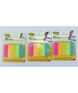 3 x Post-it Page Markers - Post Flags Assorted Colors‑250 ea. 1/2 in x 1... - $10.00