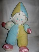 1991 Playskool Sweet Beginnings Plush Clown Doll Blue Green & Yellow plush - $29.70