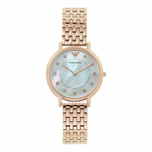Emporio Armani Kappa Ladies Stainless Steel Rose Gold Tone Watch AR11006 - £113.19 GBP