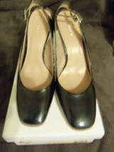 Calvin Klein Reeda Slingback Pump Black Patent Women Shoes Size 8.5 M - $40.00