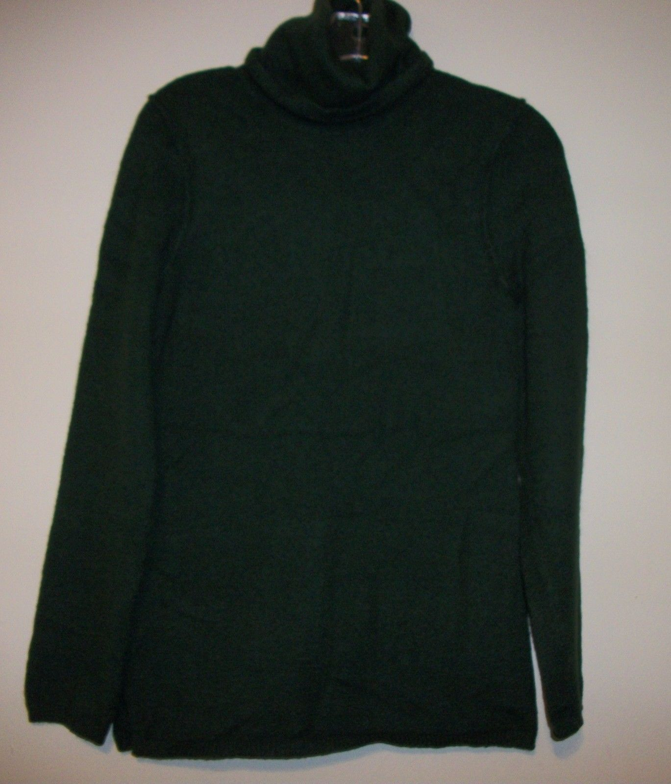 Gap Womens Turtleneck Boucle Sweater Tunic, green, size M