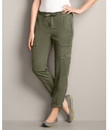 Eddie Bauer Women's Tranquil Cargo Jogger Pants, Olive, Size L, NWT - $58.50