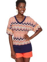 The Limited Flame Stitch V-Neck Sweater, size M, NWT - $19.99