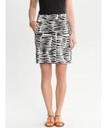 Trina Turk for Banana Republic Zazzy Zebra sateen skirt, size 2, NWHT - $49.99