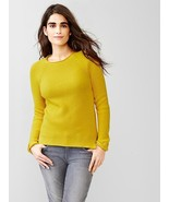 Gap Ribbed raglan sweater, raft yellow, size M, NWT - $20.00