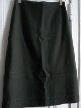 Banana Republic Wool Midi Embroidered Skirt, Sz 4 - $22.09
