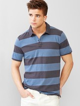 Gap Lived-in rugby polo t-shirt, blue strpe, size XL, NWT - $15.00