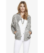 EXPRESS COWL NECK BOUCLE SWEATER JACKET, size L, NWT, $168 - $59.99