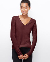 ANN TAYLOR CHELSEA CASHMERE V-NECK SWEATER, SIZE L, NWT - €100,29 EUR