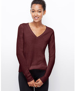 ANN TAYLOR CHELSEA CASHMERE V-NECK SWEATER, SIZE L, NWT - $119.00