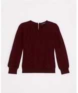 Ann Taylor Cropped Cashmere Sweater, Chianti, size L, NWT - $117.00