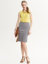 Banana Republic Striped Ponte Pencil Skirt - True navy, size 14, NWT - $45.00
