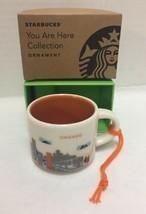 Starbucks Chicago You Are Here Ornament Mini Mug Espresso Cup New - $32.71