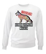 German shepherd - official walker c - NEW WHITE COTTON SWEATSHIRT - $30.65