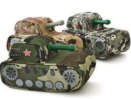 Tank Pencil Bag Camouflage Large Canvas Pen Zip Case For Boy School Supp... - $12.28