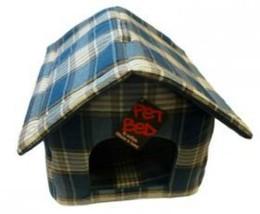 Zip Up Dog House Tweed Blue 18'' - $47.95