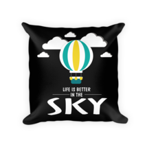Hot Air Balloon pillow - Square Pillow Case w/ stuffing - $23.00