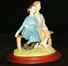 Days to Remember - Norman Rockwell Little Spooners Figurine AA19-1650 Vintage