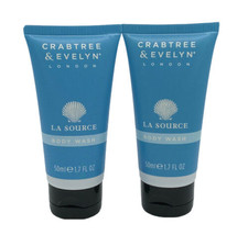 Stocking Stuffer! Crabtree & Evelyn LA SOURCE BODY WASH SET OF 2 1.7 FL OZ - $14.99