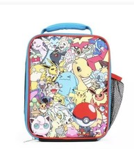 POKEMON Comic Insulated LUNCH BOX bag - Pikachu Bulbasaur Psyduck NEW - $17.78 CAD