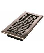 Oriental Floor Register Brushed Nickel Decor Grates AJH410-NKL 4-Inch by... - $9.85