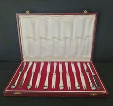 VINTAGE FRENCH CHRISTOFLE 12 LOBSTER FORKS IN ORIGINAL BOX FLATWARE - $494.01