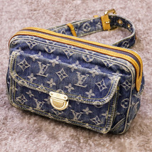 Louis Vuitton Monogram Denim Bam back M95347 waist pouch body bag France... - $2,470.46