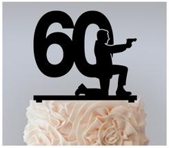 60th Birthday Anniversary Cake topper,Cupcake topper, James Bond : 11 pcs - $20.00