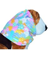 Dog Snood Easter Eggs and Bunnies Spring Colors Sparkle Cotton Size Large - $12.50