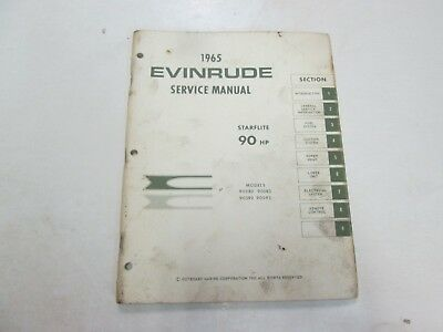 Primary image for 1965 Evinrude Service Shop Reparatur Manuell 90 hp Starflite OEM Boot Buch