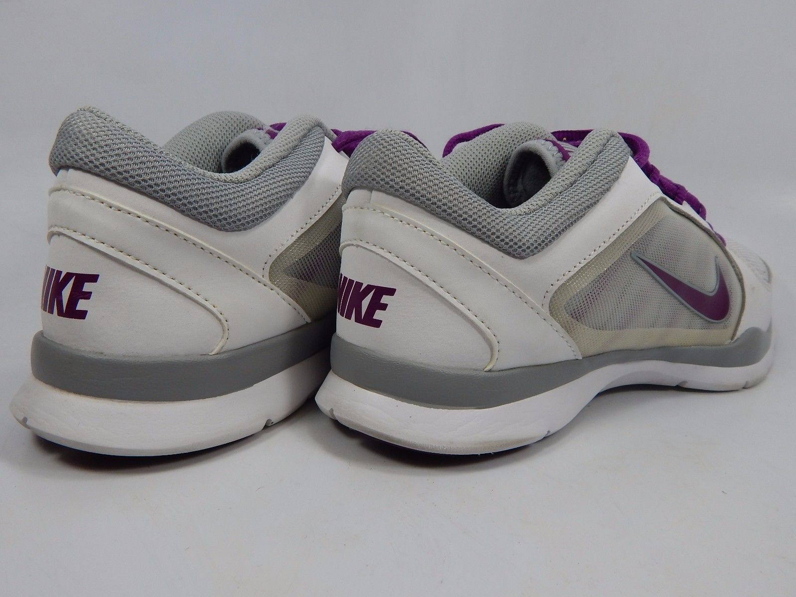 Nike Flex 4 Trainer Women's Training Shoes Sz US 8 M (B) EU 39 White 643083-100