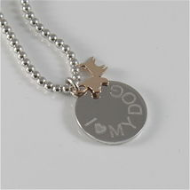 Necklace to Balls Silver 925 Jack&co with Dog Jack in Rose Gold 9KT JCN0549 image 3