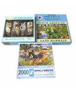 Lotto 3 Bits And Pieces 1500 2000 3000 Pezzi Puzzle - $41.71