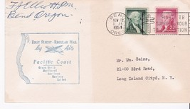 FIRST FLIGHT BEND, OR - PORTLAND, OR 11/22/1954 PACIFIC COAST - $1.98