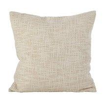 Fennco Styles Woven Metallic Design Lure Cotton Down Filled Throw Pillow... - $40.58