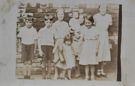 Boys And Girls Gang Of Kids Brothers Sisters Old Photograph c1920  - $3.94