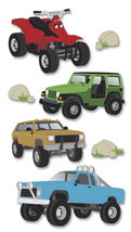 Jolee's Le Grande Dimensional Stickers-Off Roading - $10.52