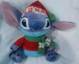 "Disney Store Alien Stitch Christmas Holiday Stuffed Plush Doll 12"" - $28.39"