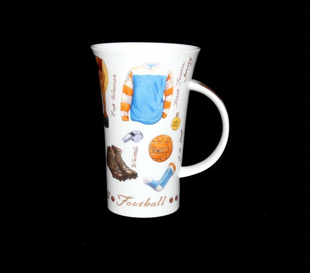 Dunoon Glencoe Equestrian*Tennis*Football*Music Large Latte Bone Mug England NEW