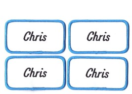 Lot of 4 Chris name patches New Embroidered Sew on tag 4 1/8 x 2 1/4 inches - $9.11