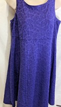 Motherhood Maternity Womens Sz M Textured Purple Sleeveless Dress - $11.80