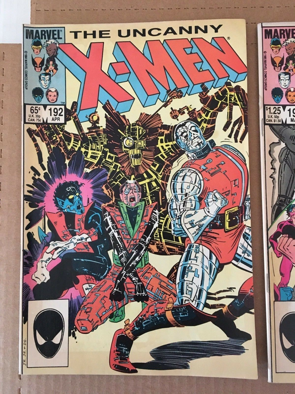 Uncanny X-Men #192 193 194 Marvel Comic Book Lot from 1985 FN+ Condition